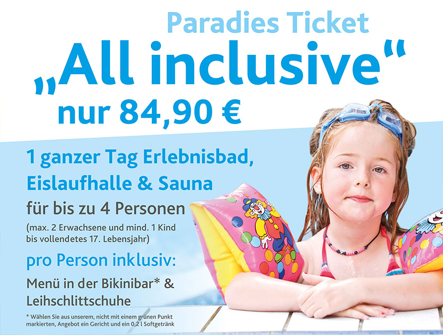 "Paradies Ticket ""All inclusive"""